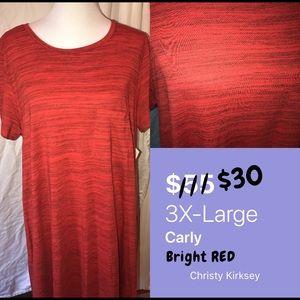 LuLaRoe Plus Size. Red Carley.